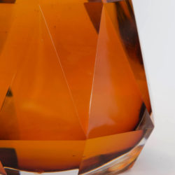 The image for Valerie Wade Lt289 Amber Simla Crystal Faceted Lamp 02