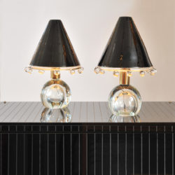 The image for Valerie Wade Lt592 Pair 1950S Glass Lamps Flavio Poli 03