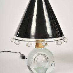 The image for Valerie Wade Lt592 Pair 1950S Glass Lamps Flavio Poli 05