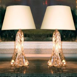 The image for Valerie Wade Lt603 Pair 1950S French Lamps Vannes01