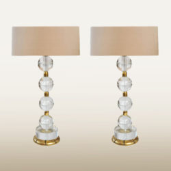 The image for Valerie Wade Lt628 Pair Murano Glass Ball Lamps 01