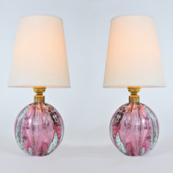 The image for Valerie Wade Lt649 Pair 1950S Two Tone Murano Ball Lamps 01