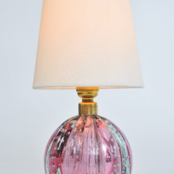 The image for Valerie Wade Lt649 Pair 1950S Two Tone Murano Ball Lamps 02