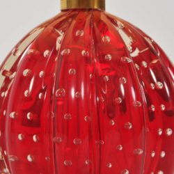 The image for Valerie Wade Lt668 Pair 1950S Red Murano Ball Lamps 03