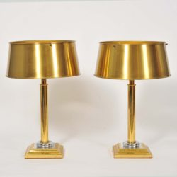 The image for Valerie Wade Lt671 Pair 1950S French Brass Lamps 01