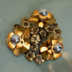 The image for Valerie Wade Lw089 Triple Lotus Flower Wall Light 01