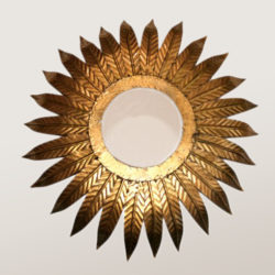 The image for Valerie Wade Lw097 1980S Italian Sunburst Mirror Light 01