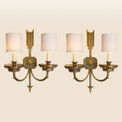 The image for Valerie Wade Lw413 1930S French Times Arrow Wall Lights 01