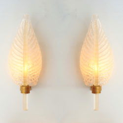 The image for Valerie Wade Lw608 Pair 1950S Italian Leaf Wall Lights 01