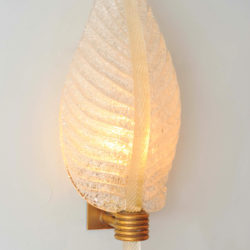 The image for Valerie Wade Lw608 Pair 1950S Italian Leaf Wall Lights 02