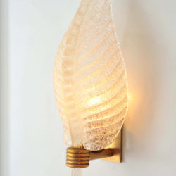 The image for Valerie Wade Lw608 Pair 1950S Italian Leaf Wall Lights 03