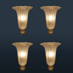 The image for Valerie Wade Lw614 Rare Set 1950S Wall Lights Seguso 01