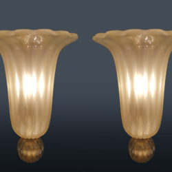 The image for Valerie Wade Lw614 Rare Set 1950S Wall Lights Seguso 02
