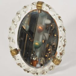 The image for Valerie Wade Mt669 1950S Italian Oval Dressing Table Mirror 02