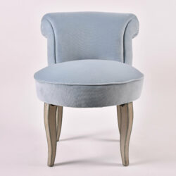The image for Vintage Pale Blue Dressing Chair 01