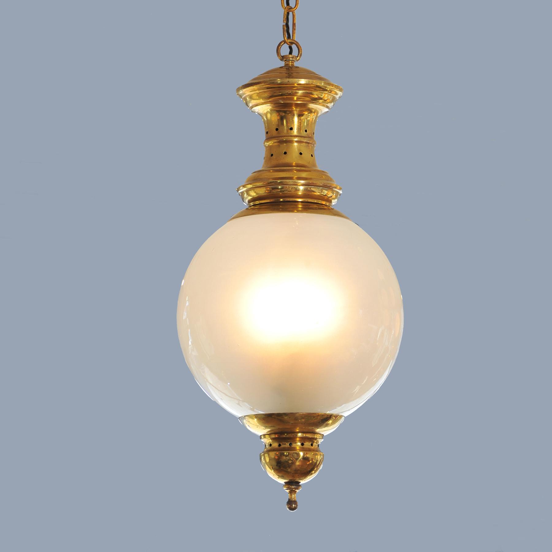 Brass And Glasspendant 05