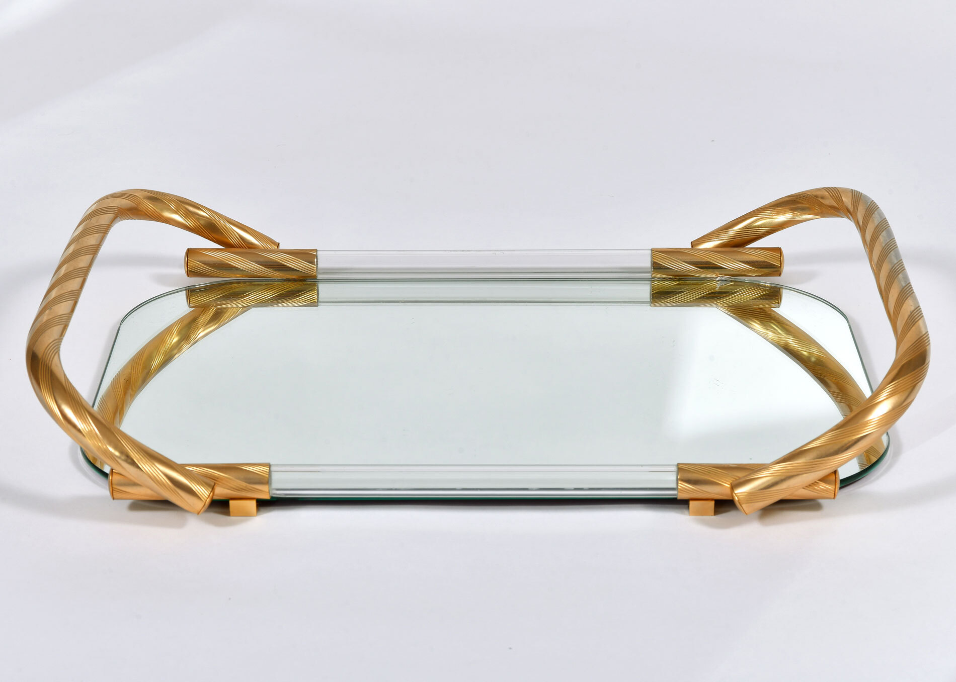 Brass And Mirror Tray 02