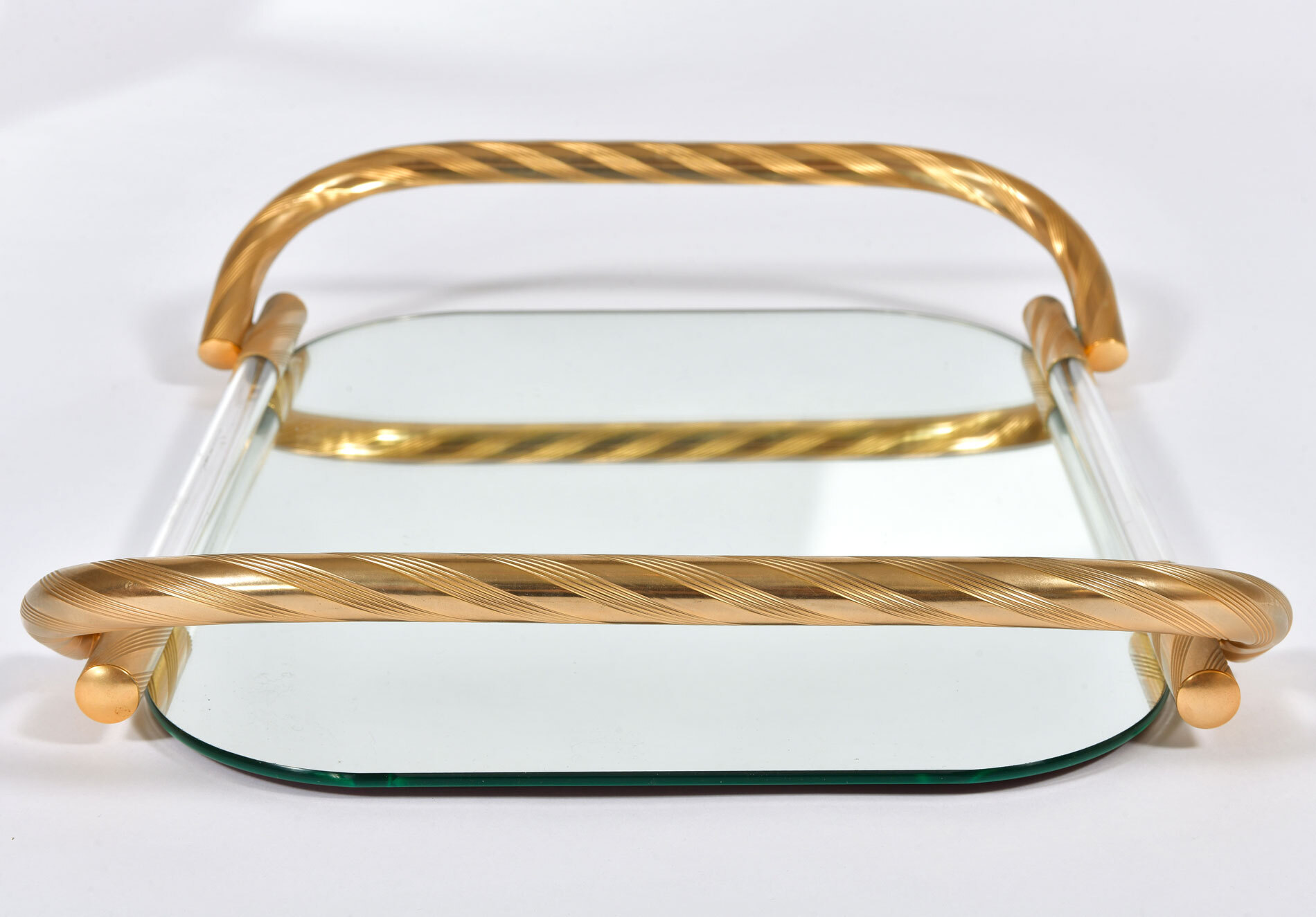 Brass And Mirror Tray 03
