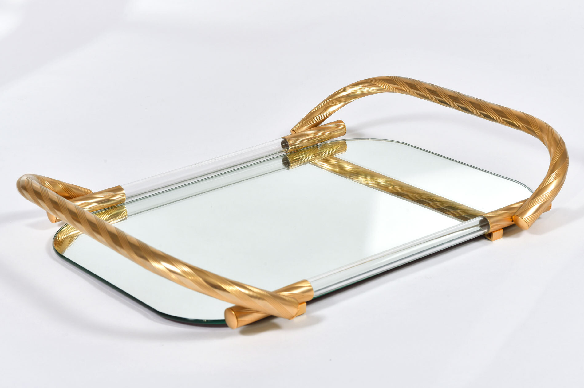 Brass And Mirror Tray 04
