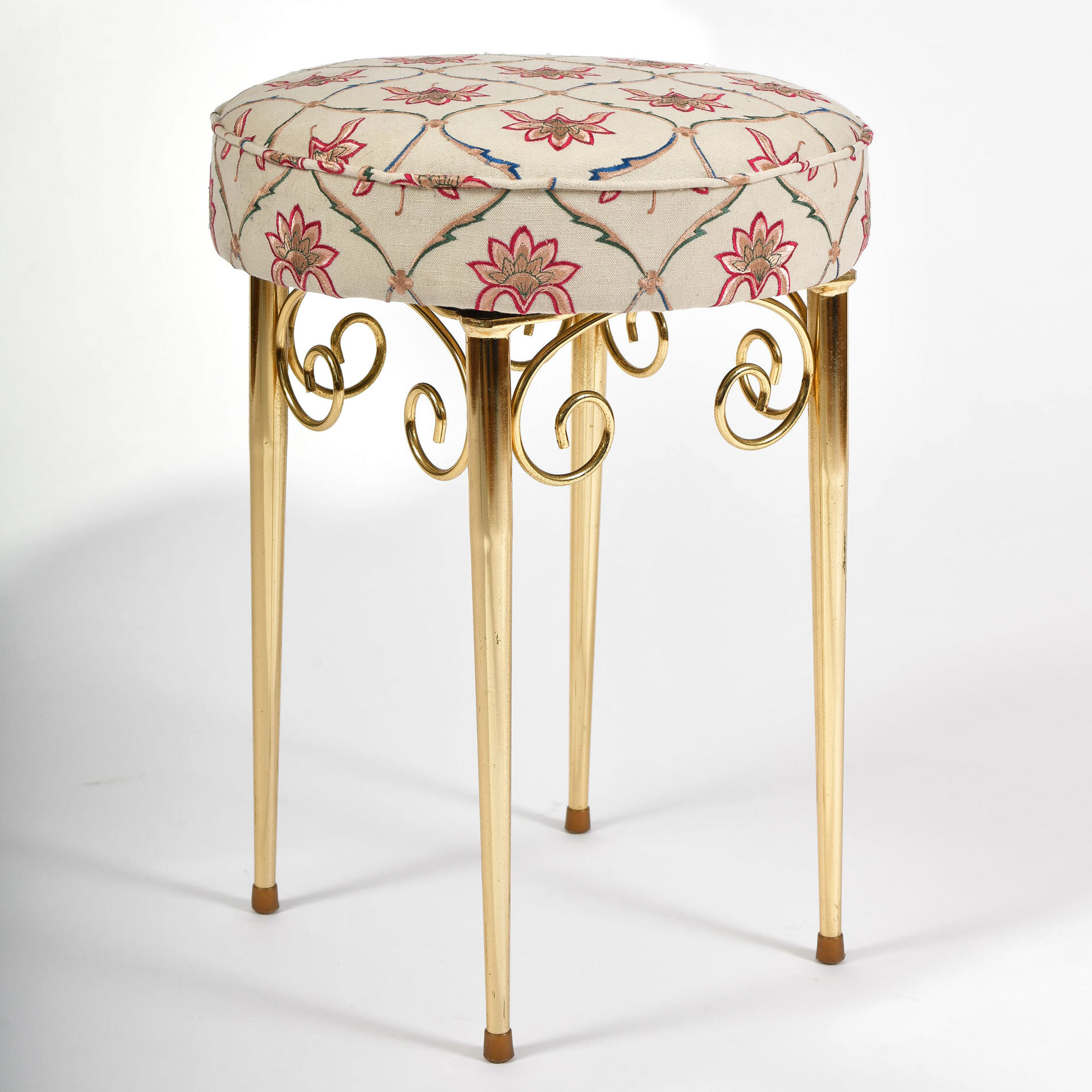 Brass Dressing Table Stool 01