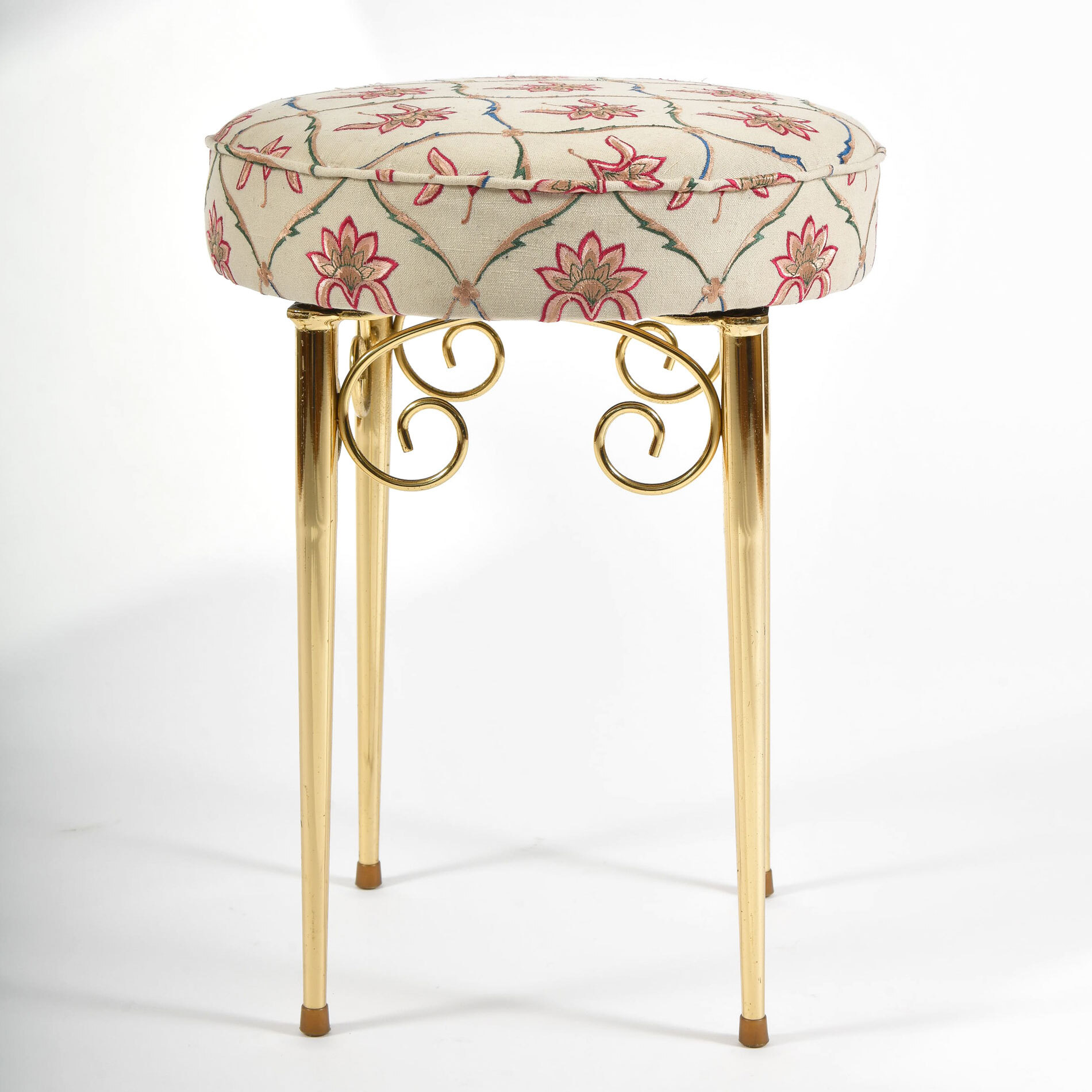 Brass Dressing Table Stool 02
