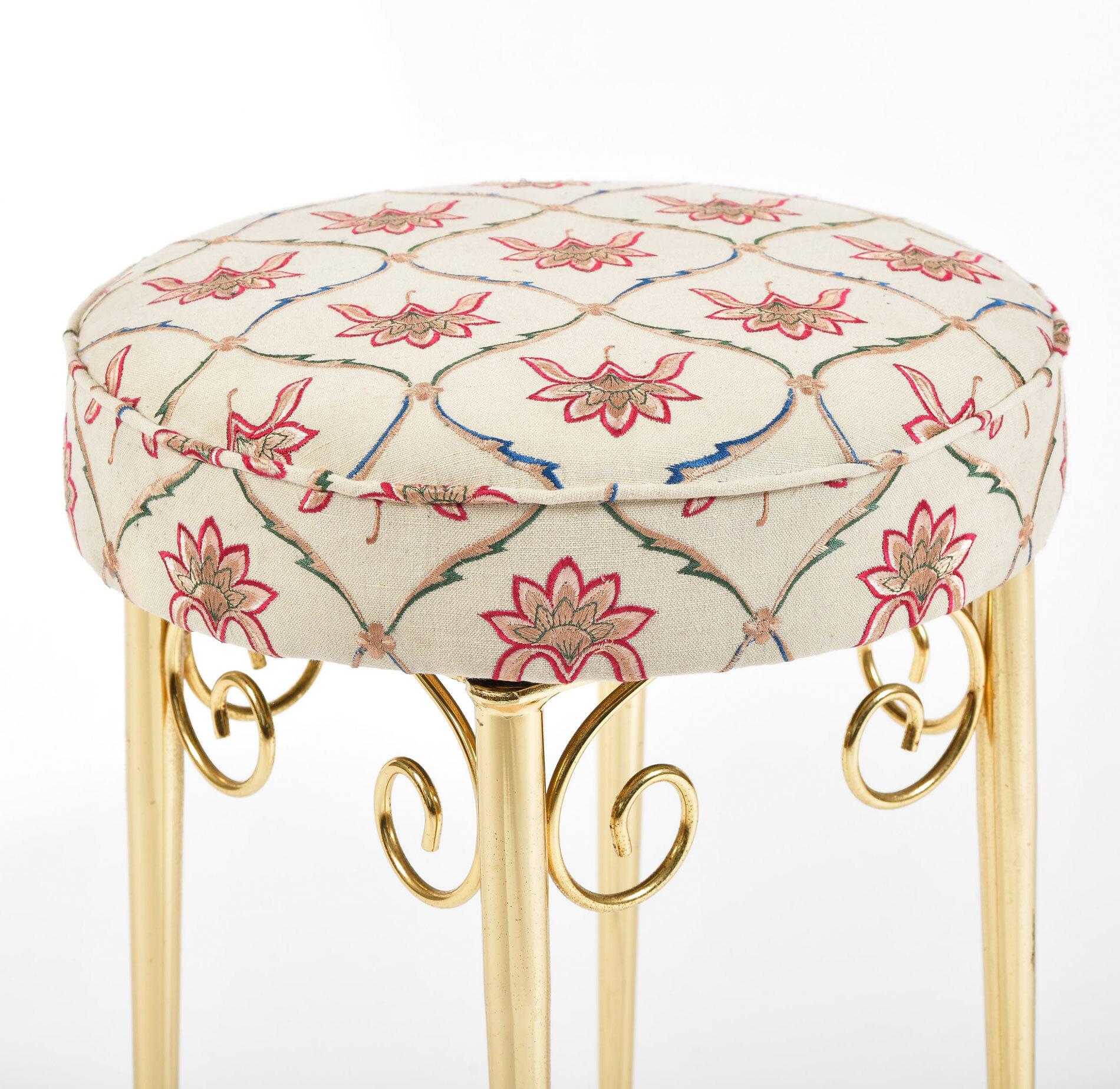 Brass Dressing Table Stool 03