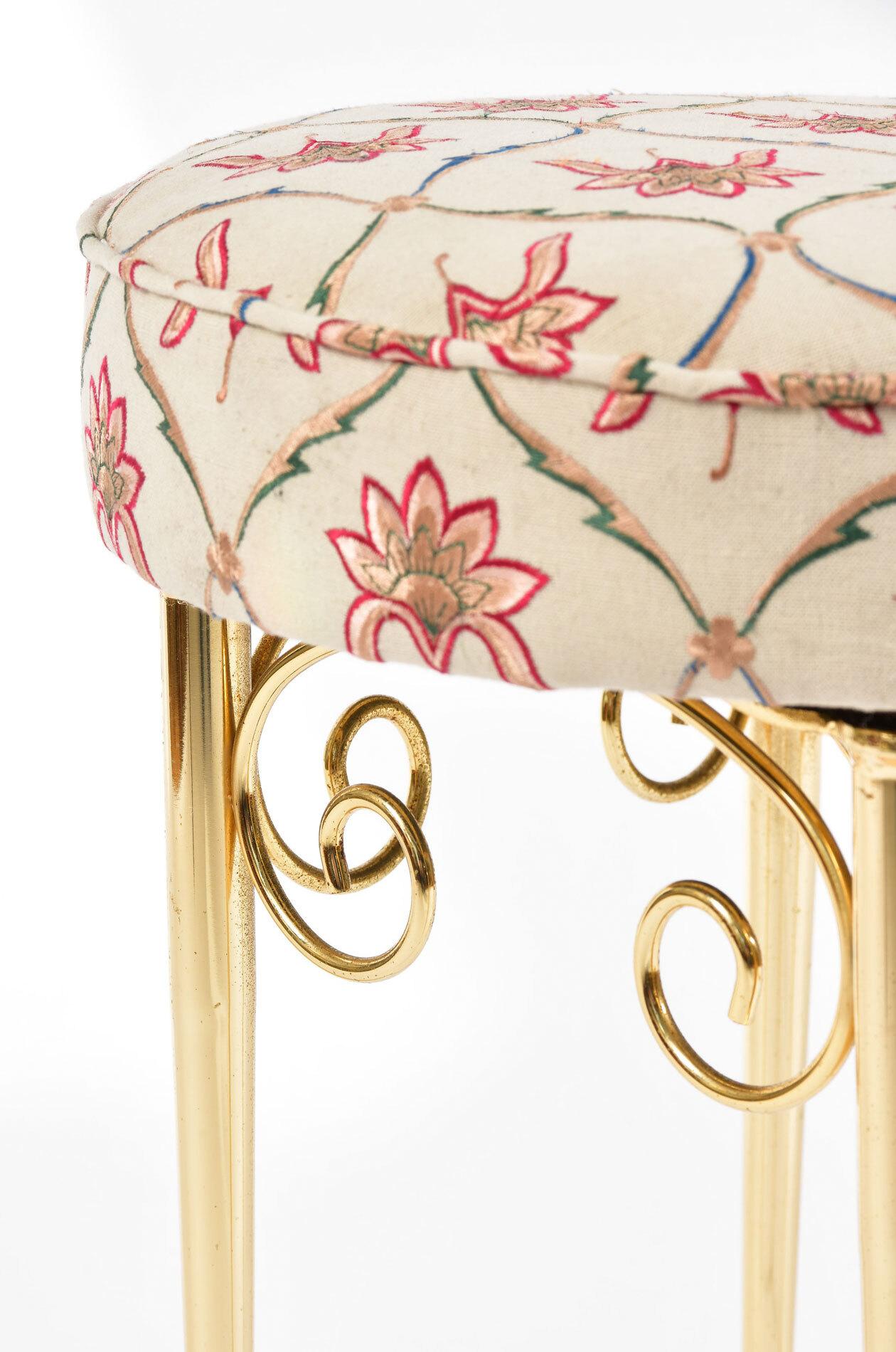 Brass Dressing Table Stool 04