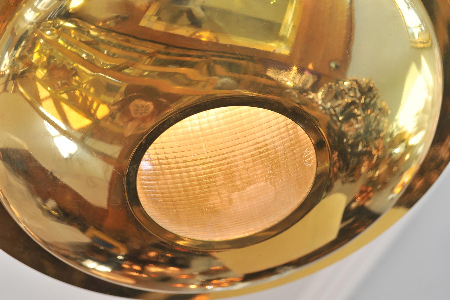 Brass Pendant Light Detail