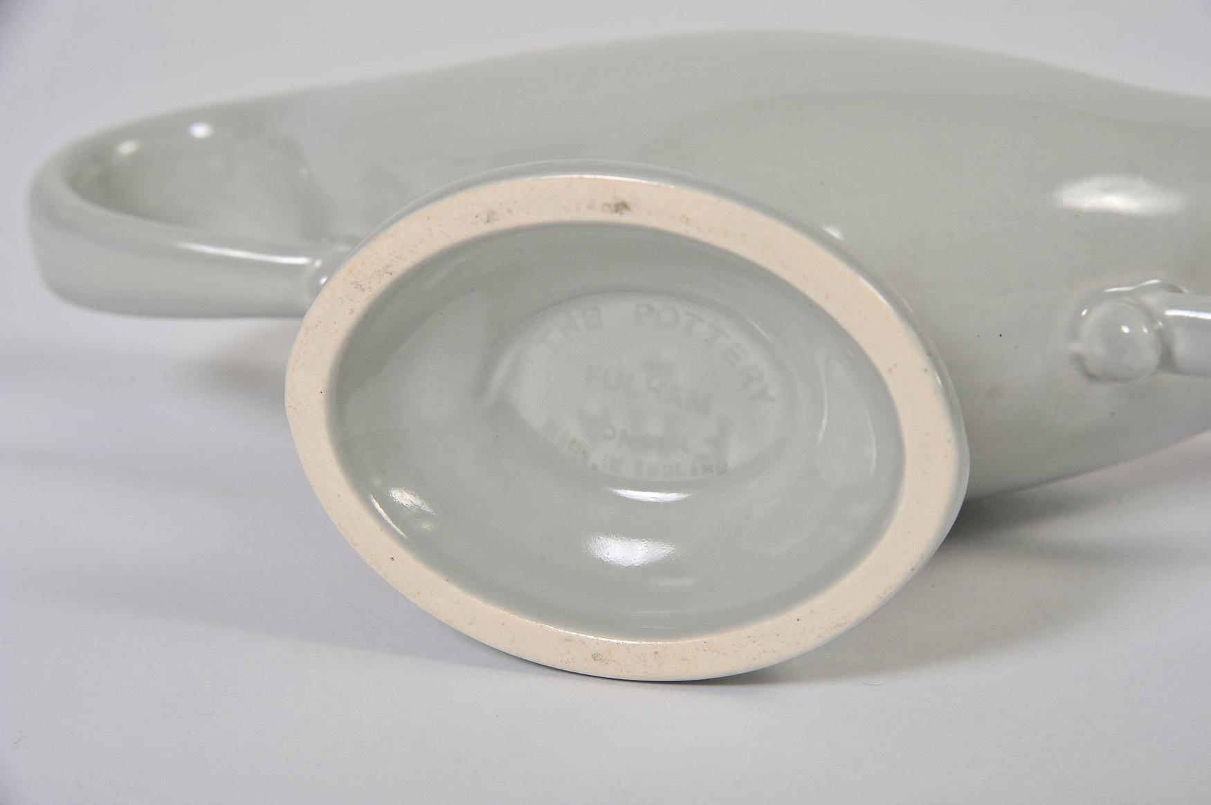 Fulham Vase Blue Grey Detail
