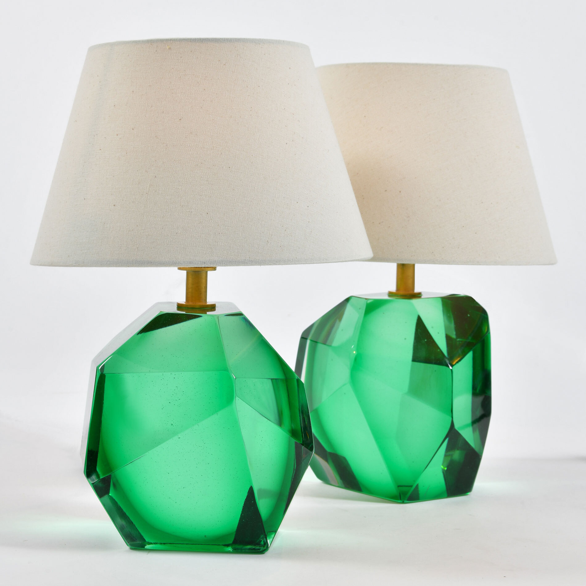 Green Glass Rock Lamps 01