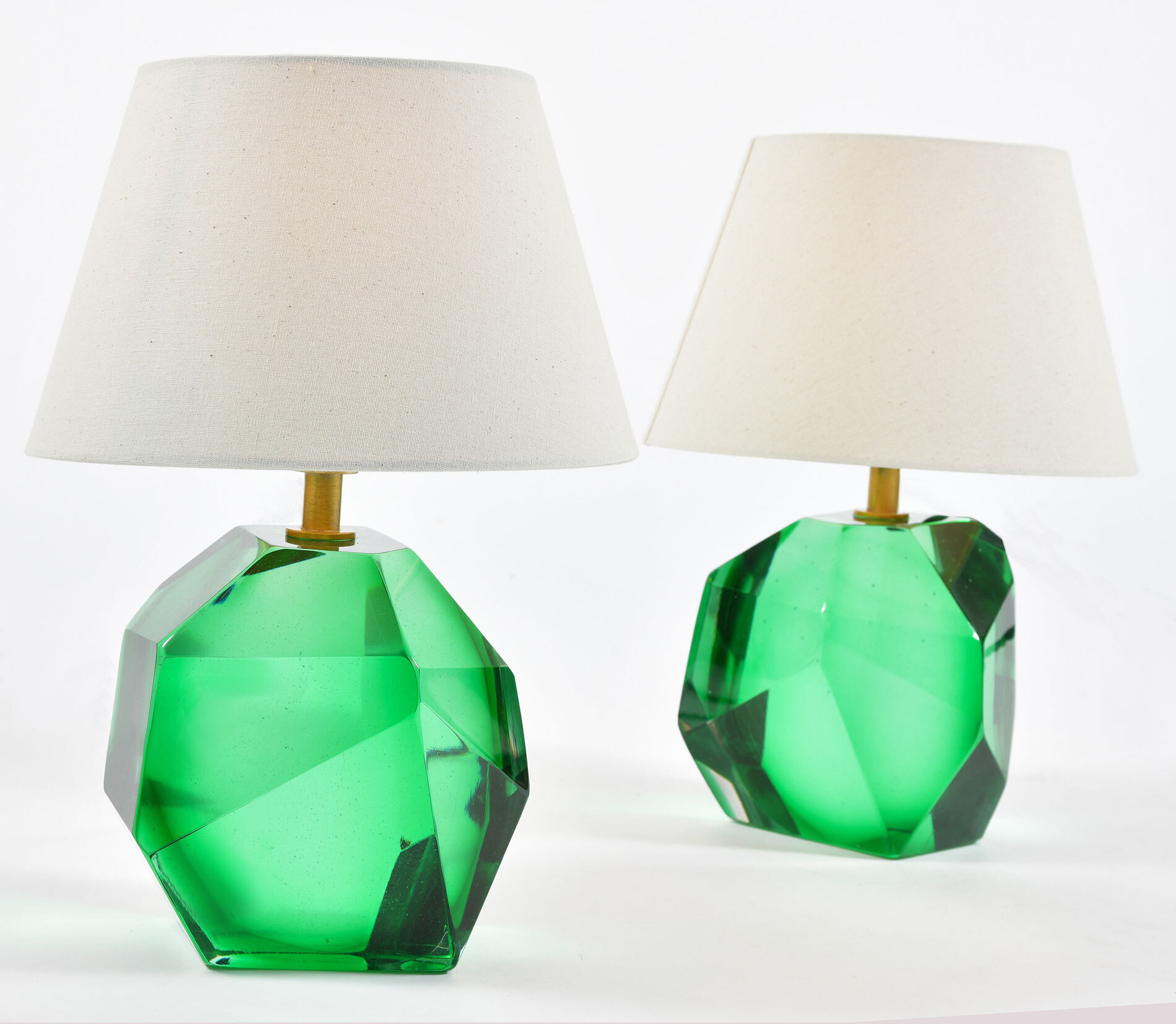 Green Glass Rock Lamps 02