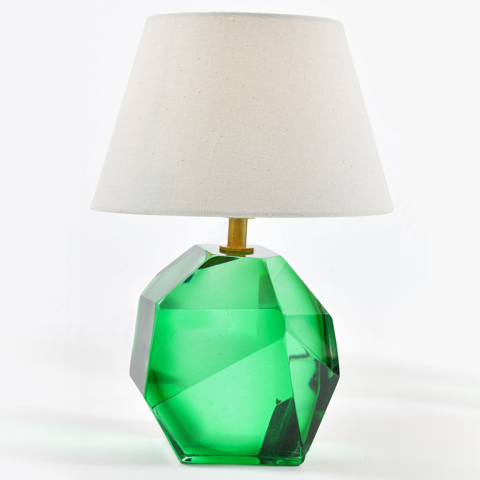 Green Glass Rock Lamps 03