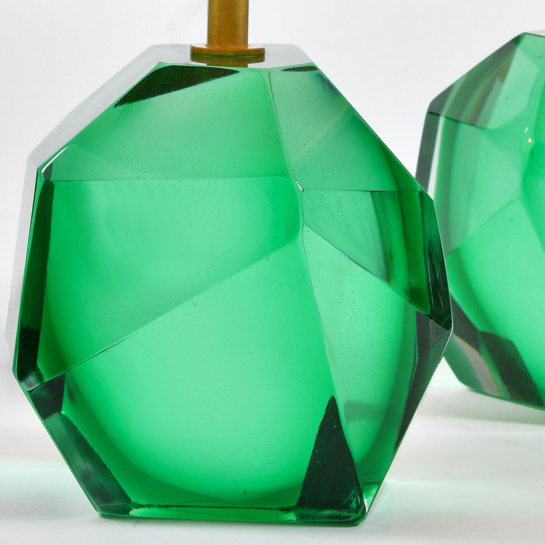 Green Rock Lamps Close Up 01
