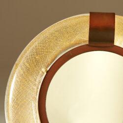 The image for Murano Circular Gold Flecked Mirror 20210427 0014 V1