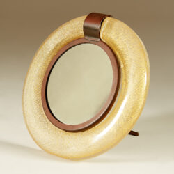 The image for Murano Circular Gold Flecked Mirror 20210427 0024 V1