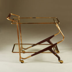 The image for Italian Brass And Mahogany Drinks Trolley 20210225 Valerie Wade 3 127 V1