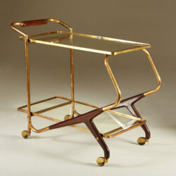 The image for Italian Brass And Mahogany Drinks Trolley 20210225 Valerie Wade 3 139 V1