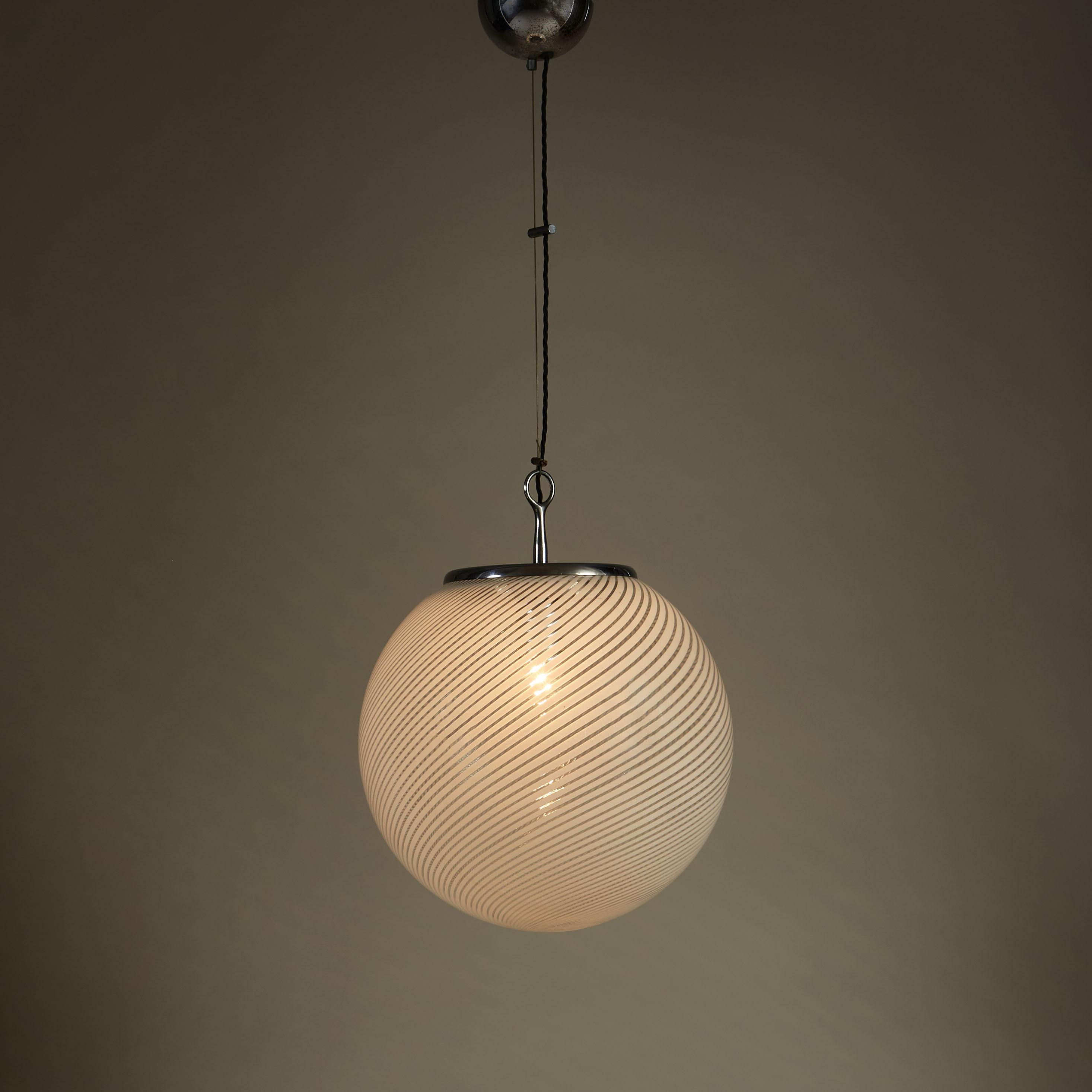Italian Swirl Ball Lamp 0096 V1