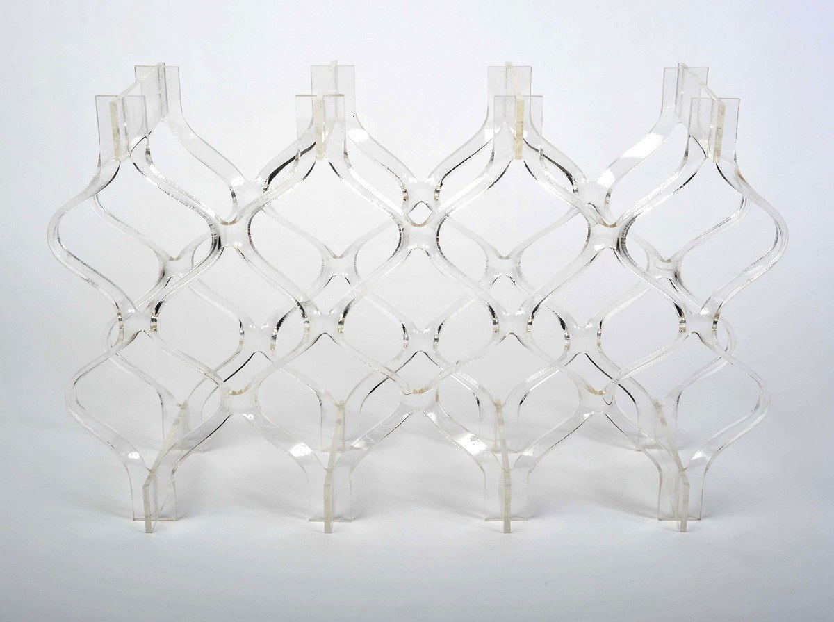 Lucite Bottle Rack Ii