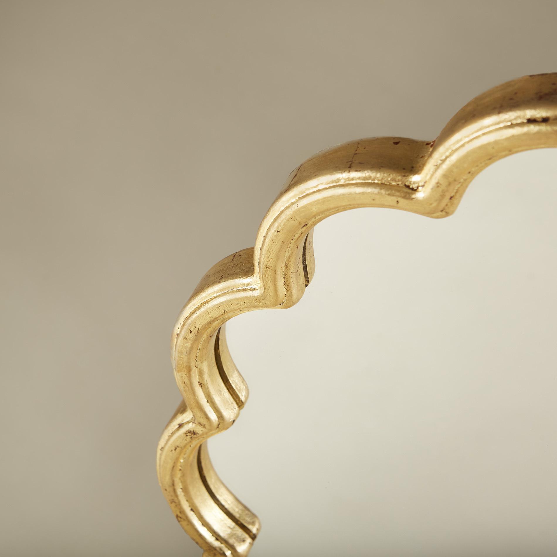 Gold Flower Mirror 0151 V1