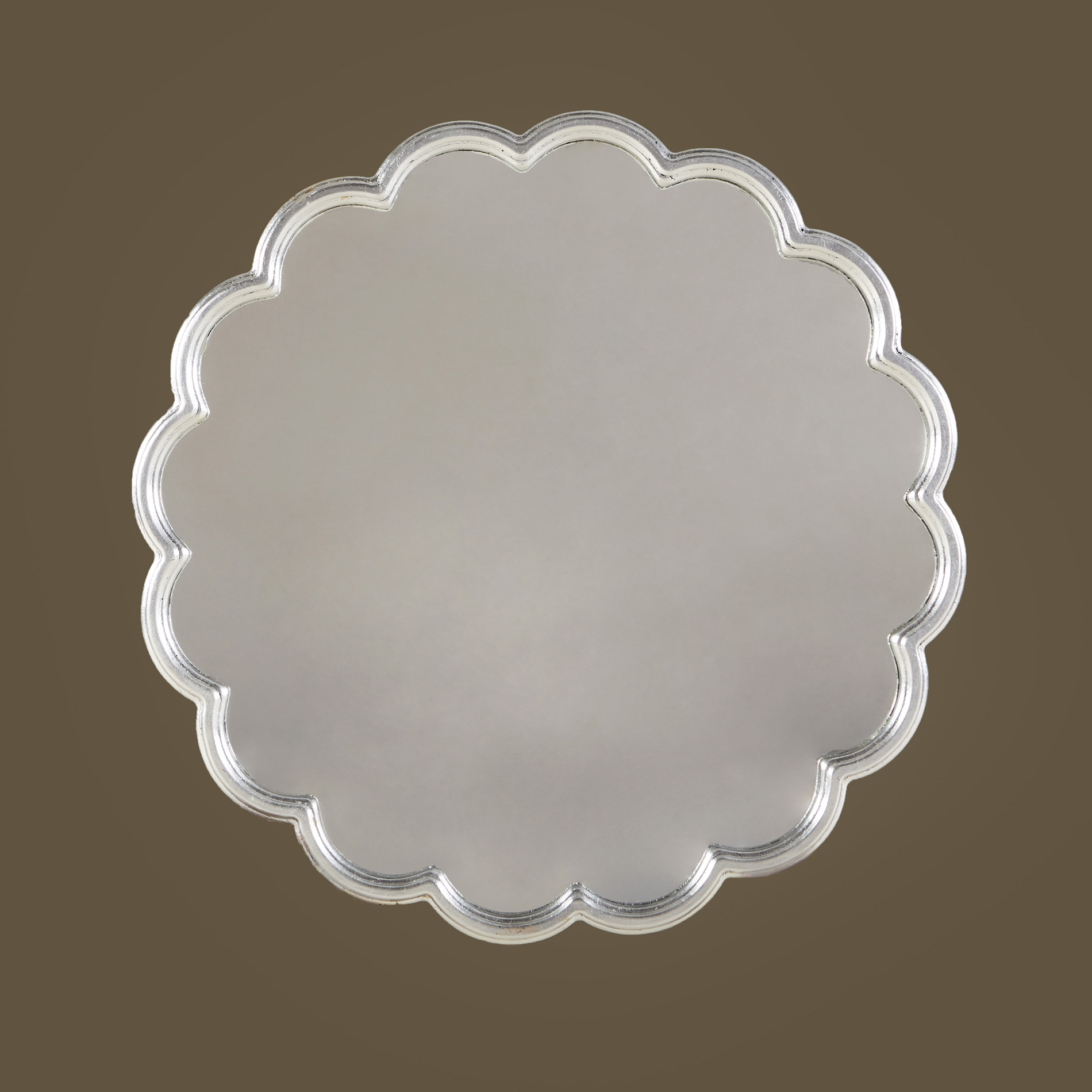 Silver Flower Mirror 0136 V1