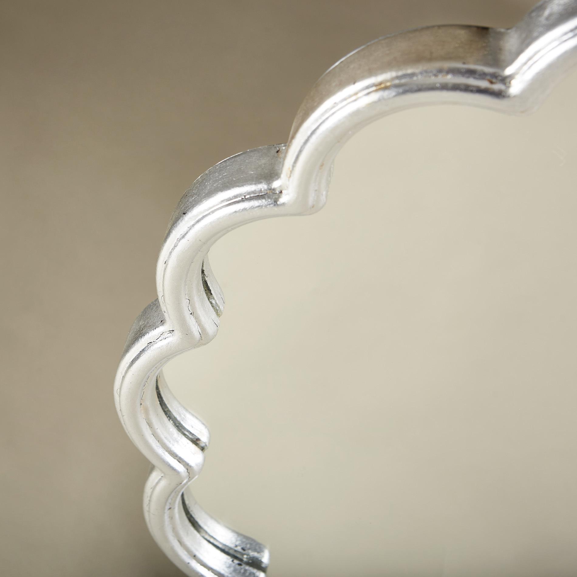 Silver Flower Mirror 0142 V1