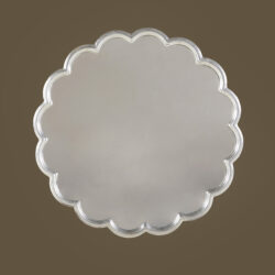 The image for Silver Flower Mirror 0136 V1