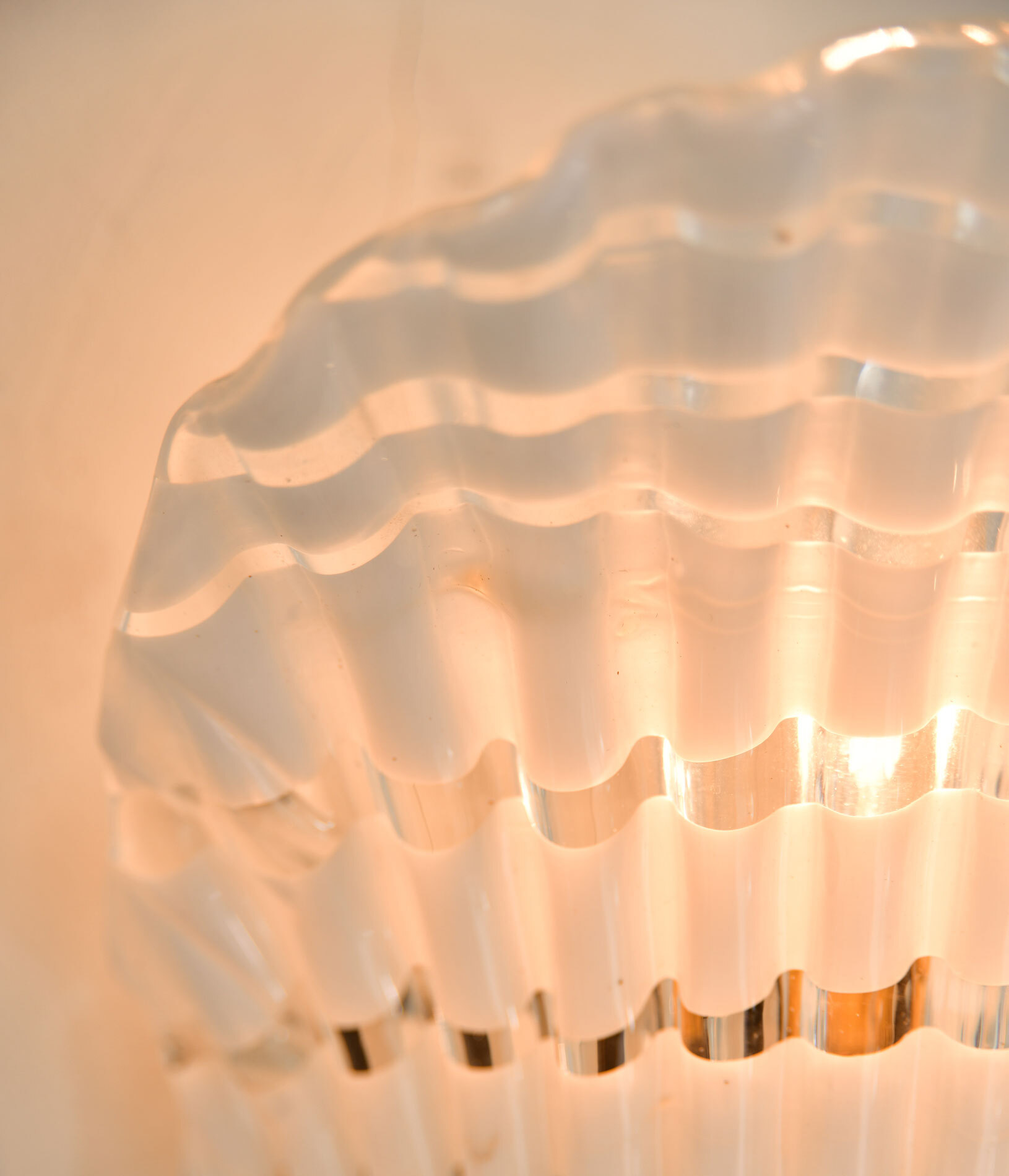 Pair Murano Fluted Wall Lights 05
