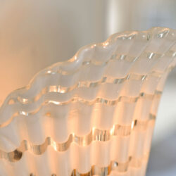 The image for Pair Murano Fluted Wall Lights 04