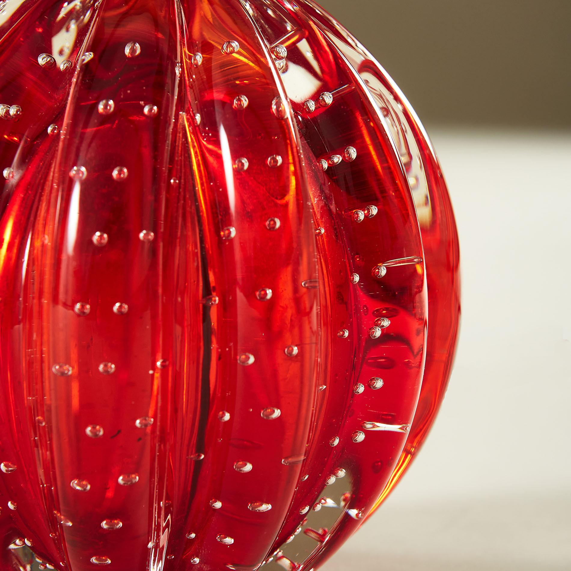 Red Murano Ball Lamp 20210225 Valerie Wade 3 076 V1