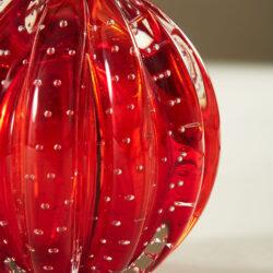 The image for Red Murano Ball Lamp 20210225 Valerie Wade 3 076 V1