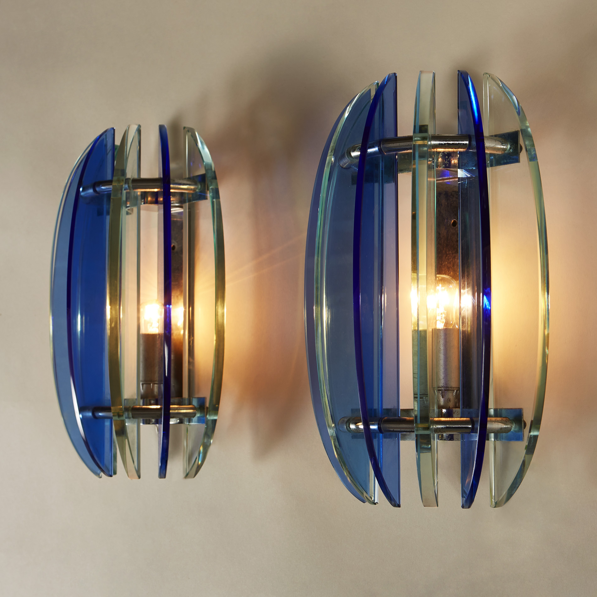 Blue Green Veca Wall Lights 0188 V1
