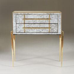 The image for Italian Antiqued Mirror Bedsides 049 V1