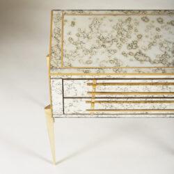 The image for Italian Antiqued Mirror Bedsides 057 V1